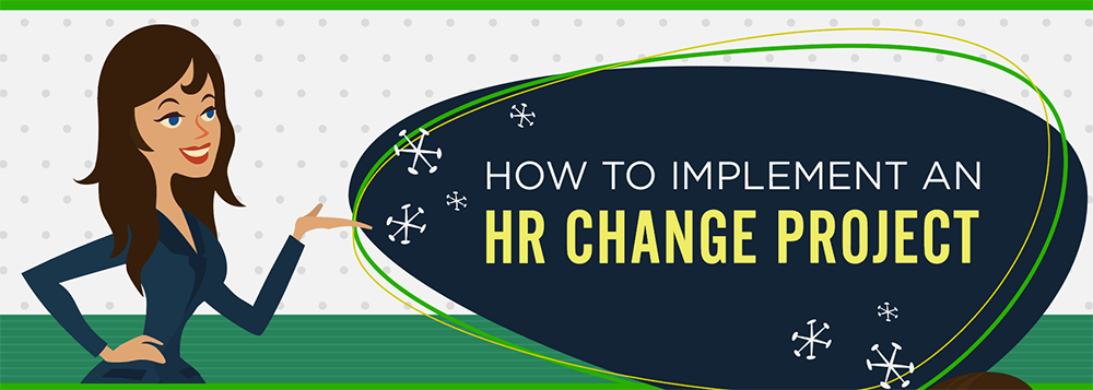 How to Implement HR Change Infographic